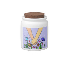 Romantic Holding Hands - Dating / Anniversary Gift Candy Jars at Zazzle