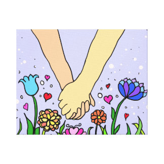 Romantic Holding Hands - dating / anniversary gift Canvas Print
