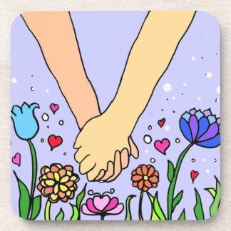 Romantic Holding Hands - dating / anniversary gift Coasters