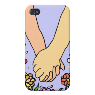 Romantic Holding Hands - dating / anniversary gift iPhone 4 Case