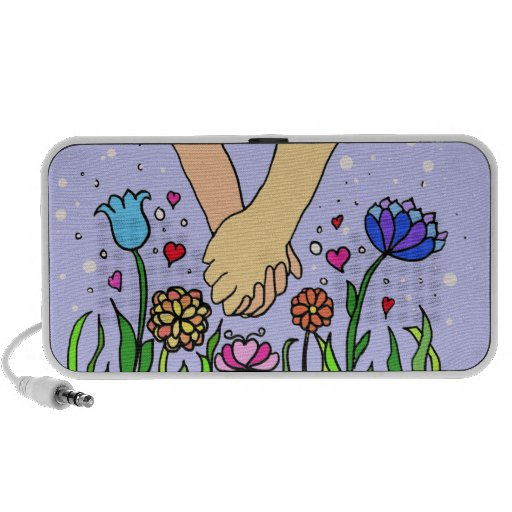 Romantic Holding Hands - dating / anniversary gift iPod Speakers
