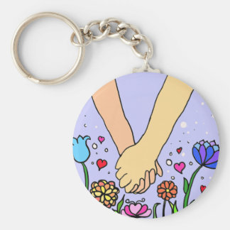 Romantic Holding Hands - dating / anniversary gift Keychains