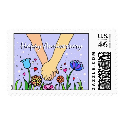 Romantic Holding Hands - dating / anniversary gift Stamps from Zazzle.