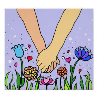 Romantic Holding Hands - dating / anniversary gift Poster