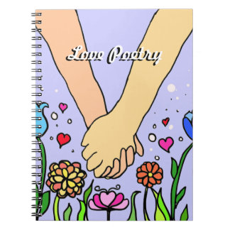 Romantic Holding Hands - dating / anniversary gift Spiral Notebook