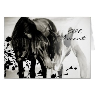 Romantic Horse Valentine's Day Greeting Card