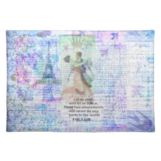 Romantic, inspirational VOLTAIR quote DANCING Place Mat