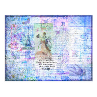 Romantic, inspirational VOLTAIR quote DANCING Postcard