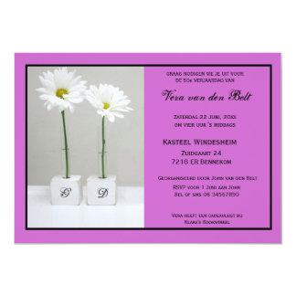 Romantic invitation for 50e anniversary