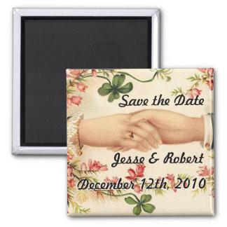Romantic Irish Save the Date Magnet