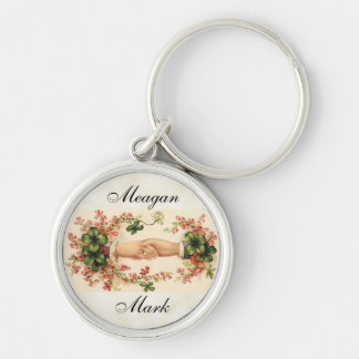 Romantic Irish Wedding Favors Silver-Colored Round Keychain