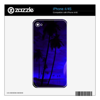 romantic island deep blue skins for iPhone 4S