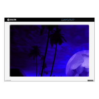 "romantic island deep blue skins for 17"" laptops"