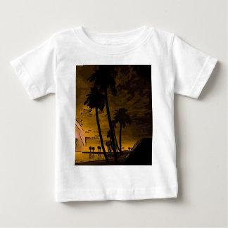 romantic island golden t shirt