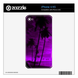 romantic island purple skins for the iPhone 4S