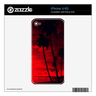 romantic island red decal for iPhone 4S