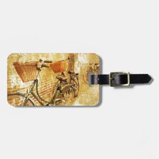 Romantic Italian Bicycle on Street Luggage Tag