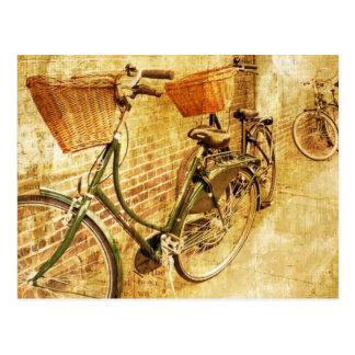 Romantic Italian Bicycle on Street Postcard