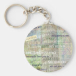Romantic Italian Phrases and words Basic Round Button Keychain