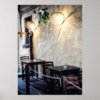 Romantic Italian restaurant Poster