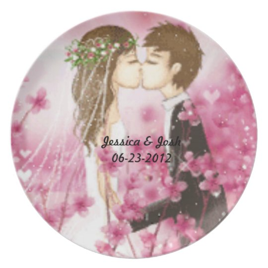 Romantic Kiss Plate
