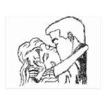 Romantic Kiss Post Cards