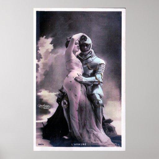 Romantic Knight In Shining Armor Print