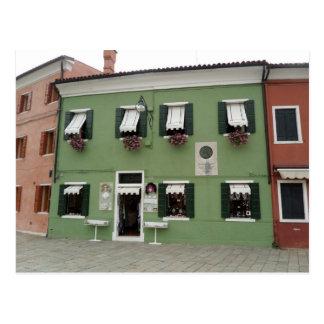 Romantic Lace Shop in Burano Postcard
