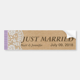 Romantic Lacey Dreams With Flowers Car Bumper Sticker