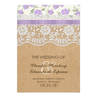 Romantic Lacey Dreams With Flowers Custom Invites
