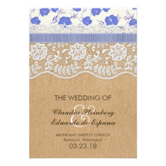 Romantic Lacey Dreams With Flowers Invite