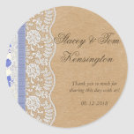 Romantic Lacey Dreams With Flowers Round Stickers