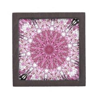 Romantic Lacy Pink Kaleidoscope Premium Jewelry Boxes