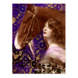 Romantic Lady with Horse Postcards