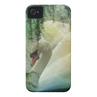 Romantic Lake Swimming White Swans iPhone 4 Case