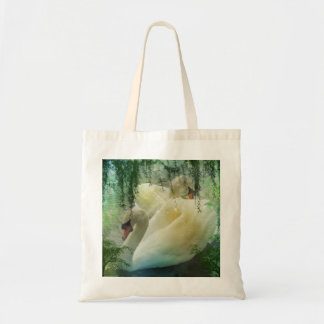 Romantic Lake Swimming White Swans Tote Bag