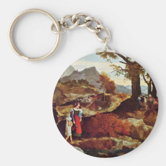 Romantic Landscape In Italy By Fohr Carl Philipp Keychains