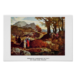 Romantic Landscape In Italy By Fohr Carl Philipp Print