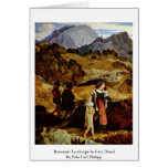 Romantic Landscape In Italy Detail Greeting Card
