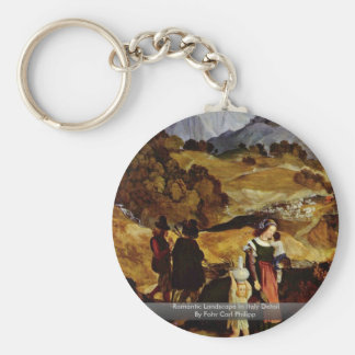 Romantic Landscape In Italy Detail Key Chains