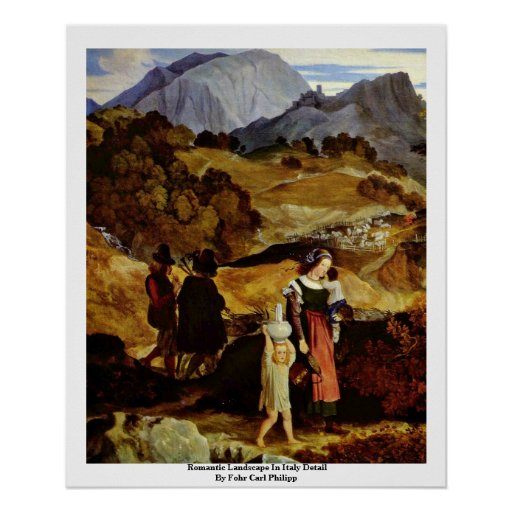 Romantic Landscape In Italy Detail Posters