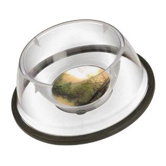romantic landscape pet bowl