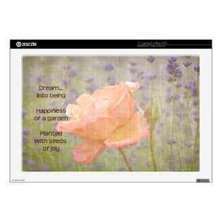 "Romantic Lavender and Rose 17"" Laptop Decal"