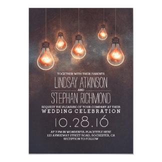 """romantic lights vintage whimsical wedding invites 5"""" x 7"""" invitation card"""
