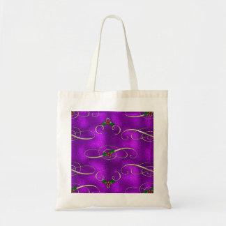 Romantic Lilac Christmas Swirls Tote Bag