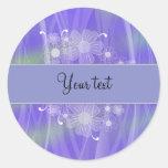 Romantic lilac floral design sticker