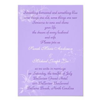 Romantic lilac wedding invitation