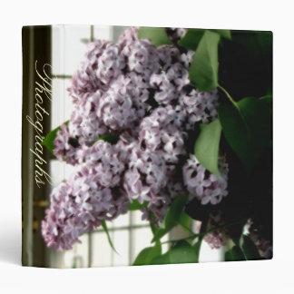 "Romantic Lilacs 1.5"" Photo Album 3 Ring Binders"