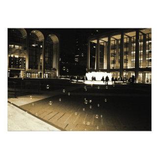 Romantic Lincoln Center  Wedding Invitation