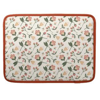 Romantic little Vintage Flowers Sleeve For MacBooks